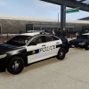 Bakersfield Police Cars Parked At Medows Airfield (FIA)