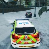 Met Police in the Snow