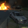 Police road block gone wrong