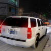 Slicktop Chevrolet Tahoe in the Snow.