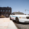 Chicago P.D cruiser parked on the side.