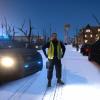 A LCSO Deputy blocks off a road.