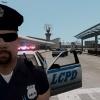 LCPD Officer taking selfie on patrol.