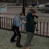 Frisking burglary suspect