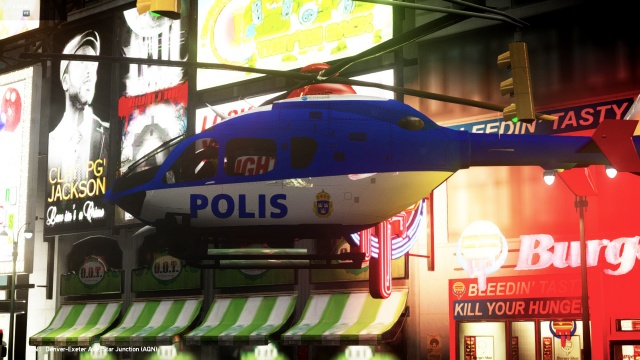 Swedish Eurocopter EC 135 Police helicopter