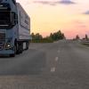 Delivering at sunset...