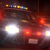 CHP Cruiser at night