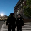 Foot Patrol In Sunset