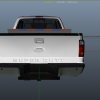 Rear of F250 With just single LED bar on rear deck