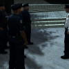 LCPD lieutenant debriefing officers in Middle Park