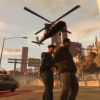Helicopter assisting an arrest
