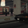 At the crime scene