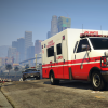 Here comes the ambulance!