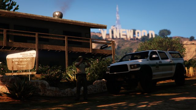At home amongst the Vinewood hills